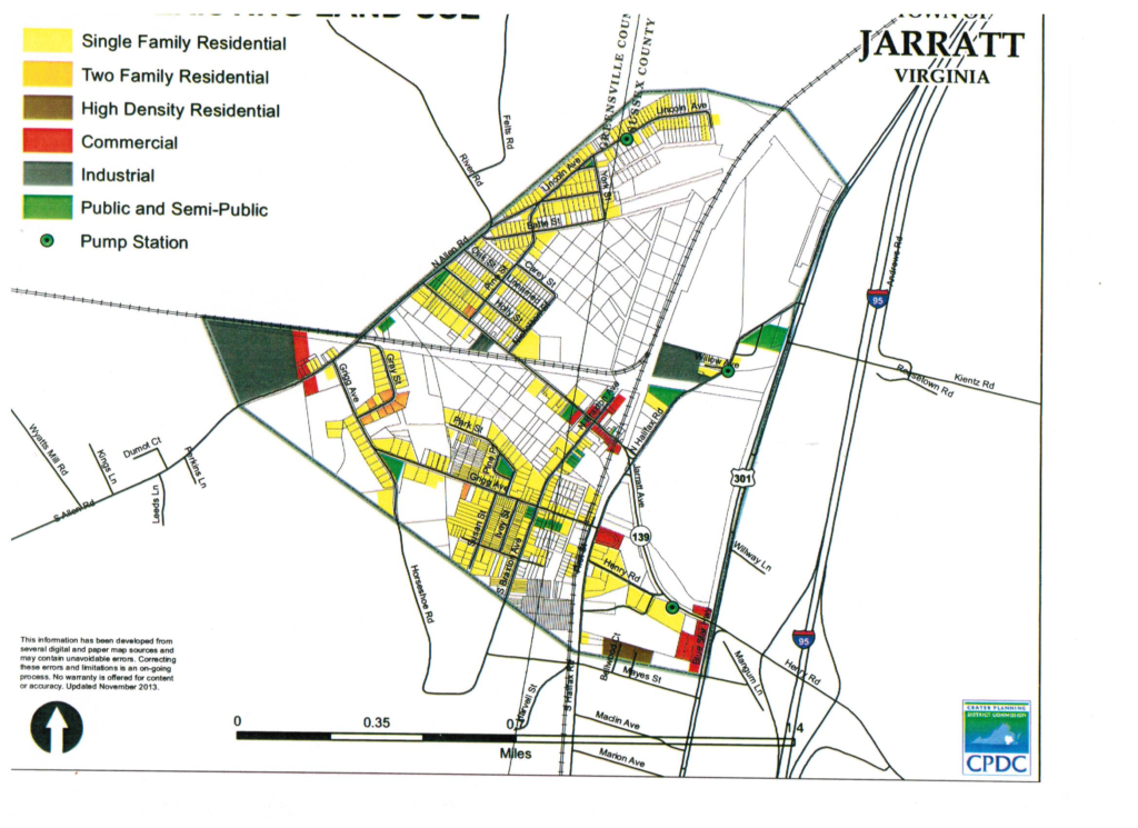 Jarratt Existing Zoning Map