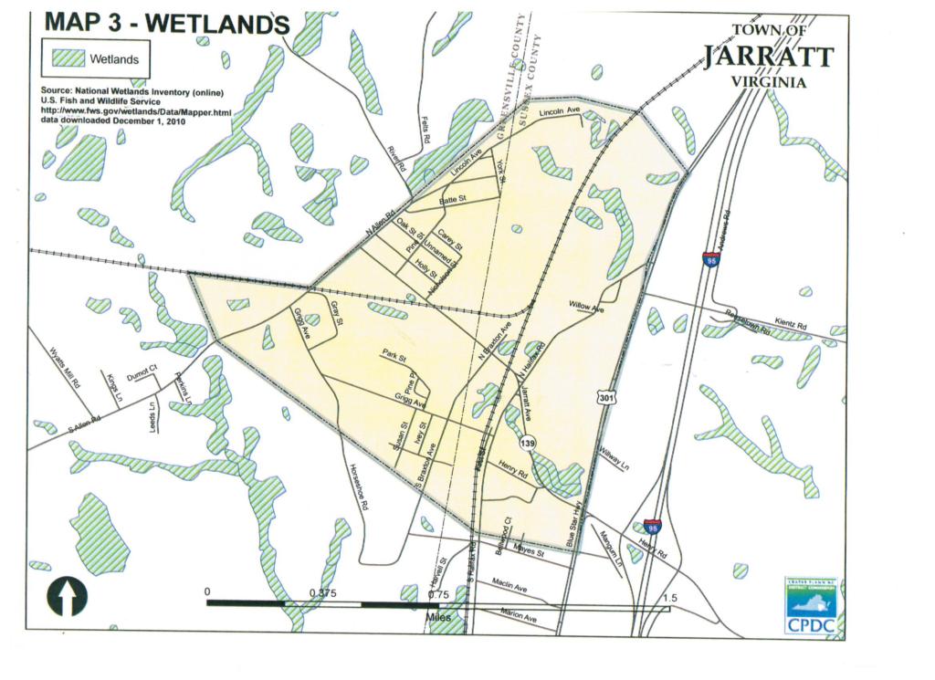 Jarratt Map of Wetlands